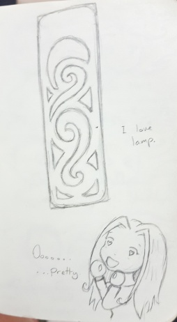 There was a beautiful lamp at this festival. So beautiful I had to sketch it.