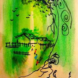 Laos 2012. Watercolour, Ink.