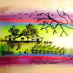 Laos 2012. Watercolour, Ink.