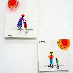 Laos 2012. Watercolour, Ink. Featured in Figurative Figures Figure Exhibition, AGC, Sheffiled, 2012.