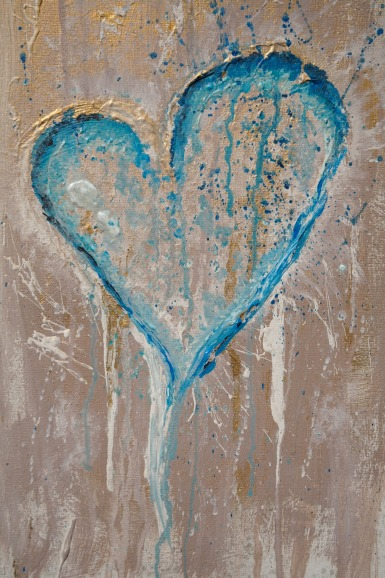 """Hearted From my """"Emovere"""" collection Jan 2011. Acrylic, spray paint, ink"""