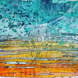 "Sunset From ""Emovere"" collection 2015. Watercolour, ink"