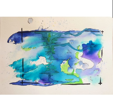 """Hotsprings From """"Emovere"""" collection Jan 2016. Watercolour, ink"""