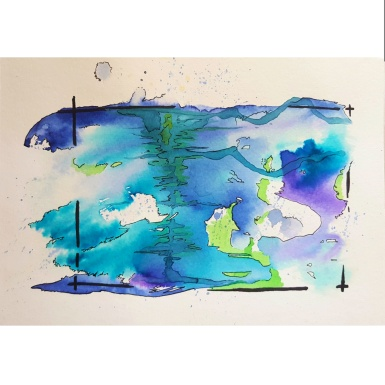 "Hotsprings From ""Emovere"" collection Jan 2016. Watercolour, ink"
