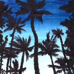 Untitled 2011. Oil paint, watercolour.