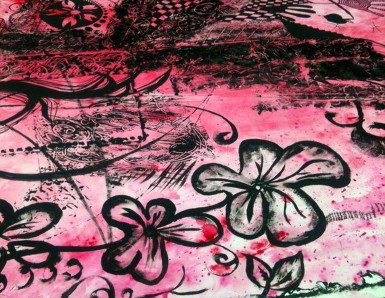 T.N.T Pink 2010. Acrylic Paint. Collaboration with Naomi Everett and Christina Mooney.