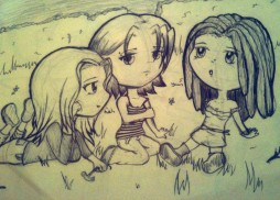 An old image of Red, me and Hannah chilling at the old Town Hall back in the day.