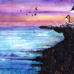 Untitled 2012. Oil paint, watercolour.