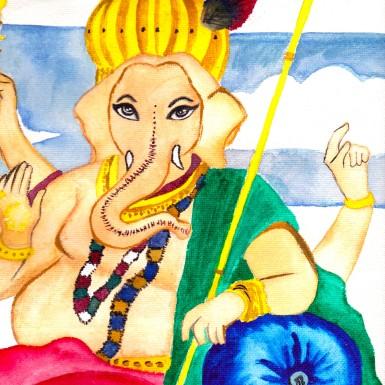 Ganesha, 2012, Watercolour