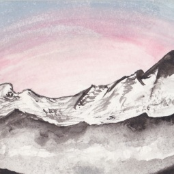 83p, 2013, Watercolours on postcards